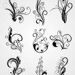 Background with floral tattoos — Stock Vector