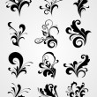 Floral tattoos clipart — Stock Vector