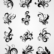 Collection of scroll pattern tattoos - Stock Vector