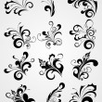 Tattoos design set — Stock Vector