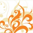 Royalty-Free Stock Vectorielle: Artistic orange design illutration