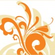 Abstract orange floral background — Vettoriali Stock