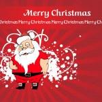 Merry christmas card illustration — Stock Vector