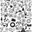 Background with mixed icons - Stock Vector