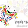 Abstract colorful butterfly background — Stock Vector