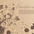Royalty-Free Stock Vector Image: Grungy floral background with sample tex