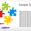 Colorful puzzle with white background — Stock Vector