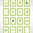 Stock Vector: Abstract ecology series icon set1