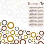 Abstract circles illustration design — Stock Vector