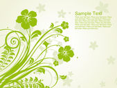 Green floral pattern illustration — Stock Vector