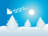 Blue merry christmas wallpaper — Stock Vector