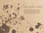 Grungy floral background with sample tex — Stock Vector