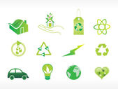 Abstract ecology series icon set_1 — Stock Vector