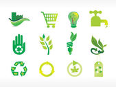 Abstract ecology series icon set_2 — Stock Vector