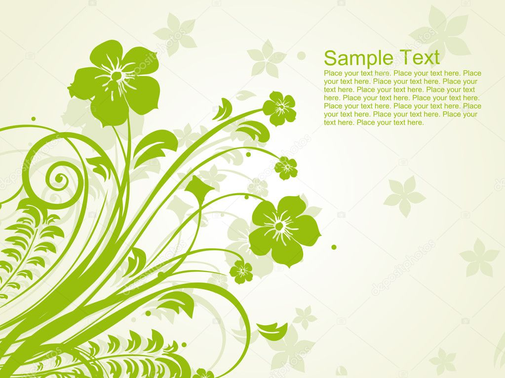 Green floral pattern with seamless background — Vettoriali Stock  #1550254