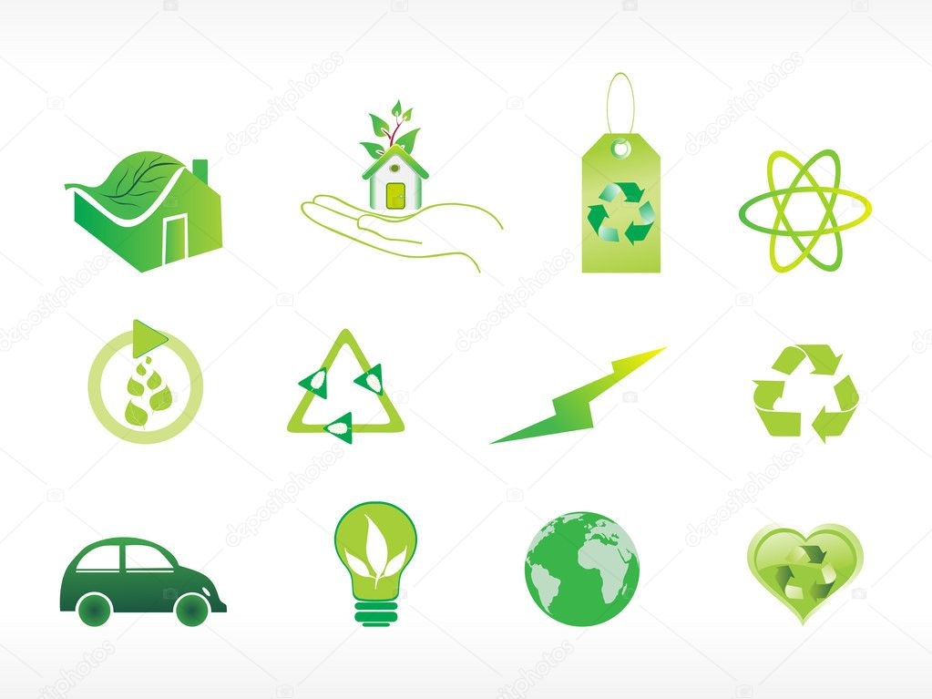 Abstract ecology series icon set_1 — Stock Vector #1559294