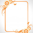 Abstract decorative floral frame design5 — Stock Vector
