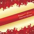 Background of christmas ornamented - Imagen vectorial