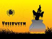 Abstract background of halloween treat — Stock Vector
