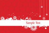 クリスマスの装飾の背景 — ストックベクタ