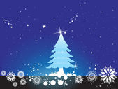 Background of christmas ornamented — Stock Vector