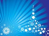 фон украшенные рождественские — Cтоковый вектор