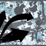 Grungy border background with arrowhead — Stock Vector