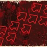 Grungy background with arrowhead — Stock Vector
