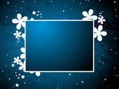 Raggi blu, sfondo onda — Vettoriale Stock
