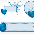 Valentine day banner illustration — Imagen vectorial