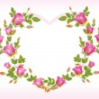 Stock Vector: Romantic pink heart shape frame