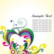 Royalty-Free Stock Vector Image: Abstract floral hearts, illustration
