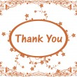 Gretting card for thank you - Stok Vektör