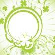 Decor shamrock floral design — Image vectorielle