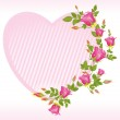 Heart shape frame for a valentine day — Stock Vector