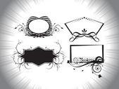 Artistieke patroon frames illustratie — Stockvector