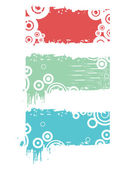 Background with dirty frames — Stock Vector