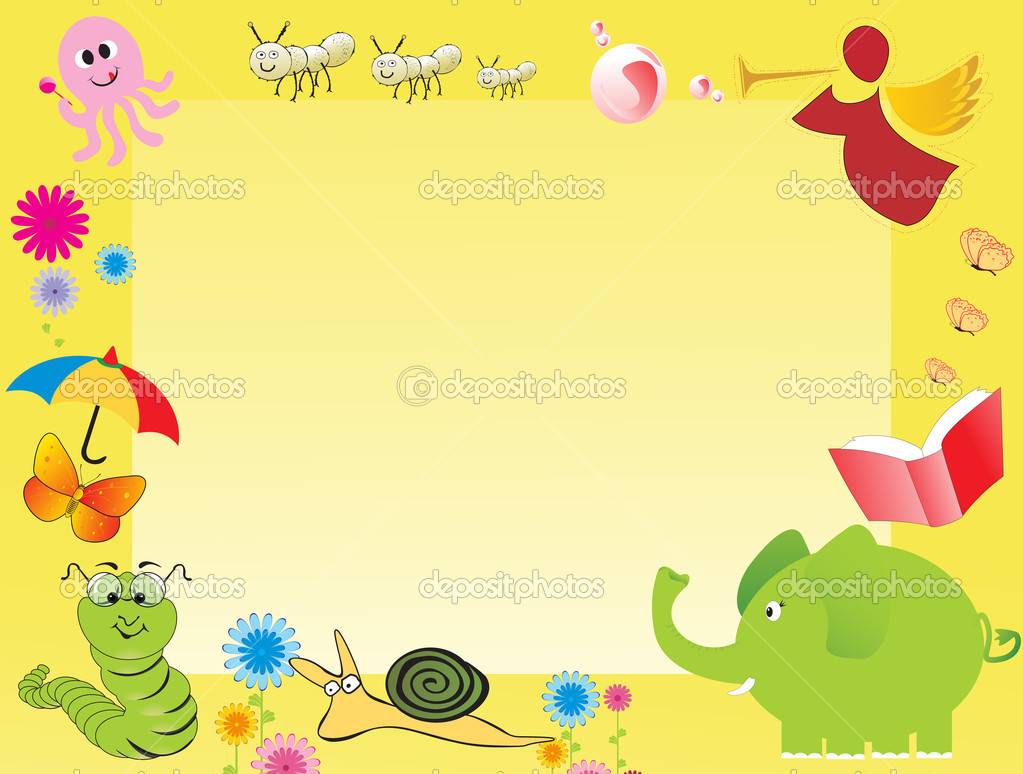 Abstract frame for kid, illustration - Stock Illustration