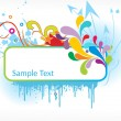 Abstract funky vector background - Stock vektor
