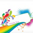 Abstract funky vector background - Stockvectorbeeld