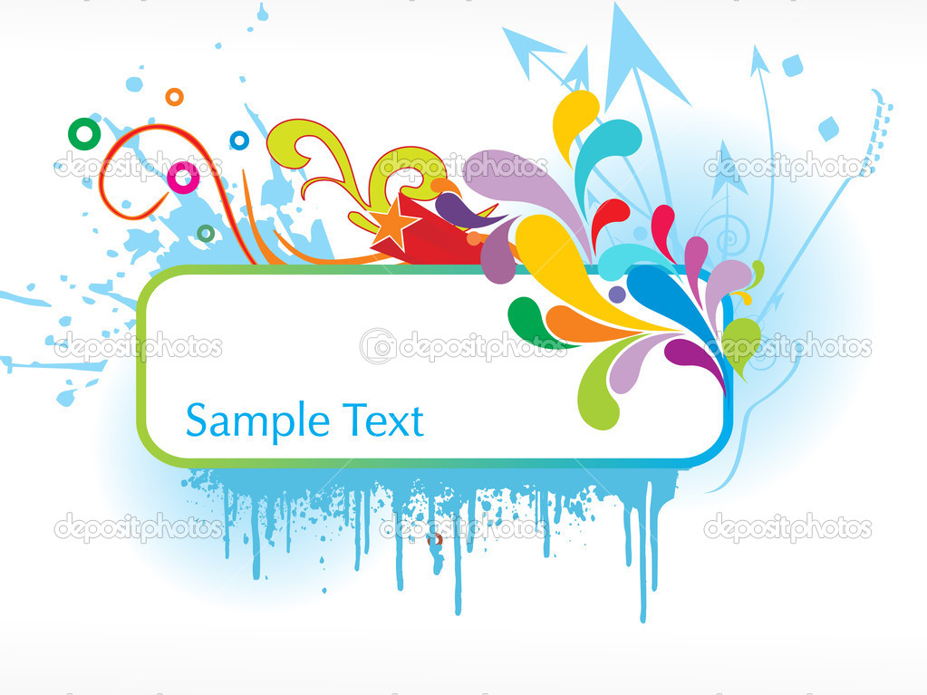 Abstract funky vector background for text20 — Stock Vector #1734619
