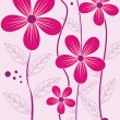 Stock Vector: Background with pink flower