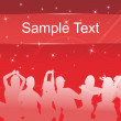 Royalty-Free Stock Immagine Vettoriale: Red background with silhouette