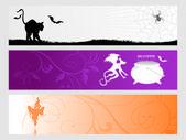 Abstracte halloween banner serie set24 — Stockvector