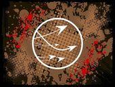 Streszczenie grunge ze strzałkami — Zdjęcie stockowe