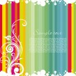 Colorful striped line background — Stock Vector