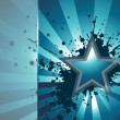 Grunge background with star — Stock Vector #1856896