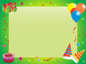 Abstract birthday frame, illustration — Stock Vector