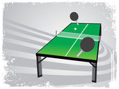 Abstract grunge frame with table tennis — Stock Vector