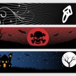Abstract halloween banner series set15 — Stock Vector